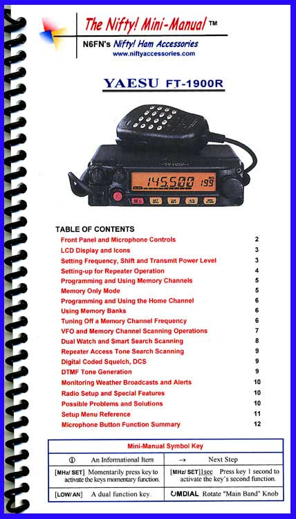 Yaesu FT-1900R Mini-Manual