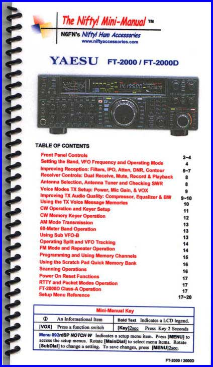 Yaesu FT-2000 Mini-Manual