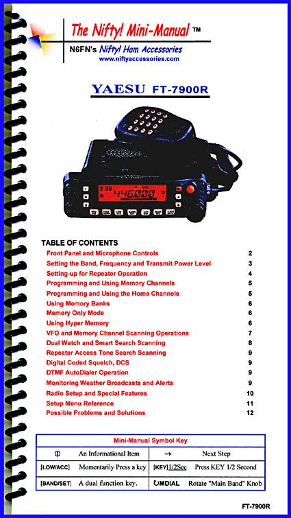 Yaesu FT-7900R Mini-Manual