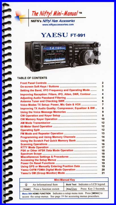 Yaesu FT-991 Mini-Manual