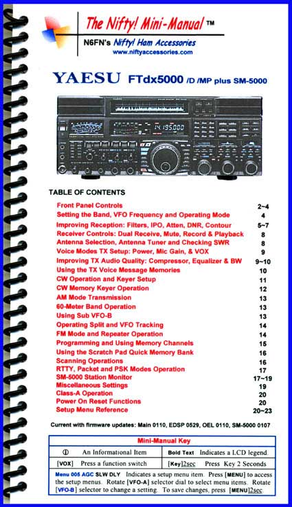Yaesu FTdx5000 /D /MP Mini-Manual
