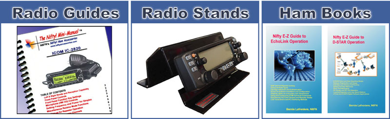 Nifty Ham Radio Operating Guides, Stands and Books