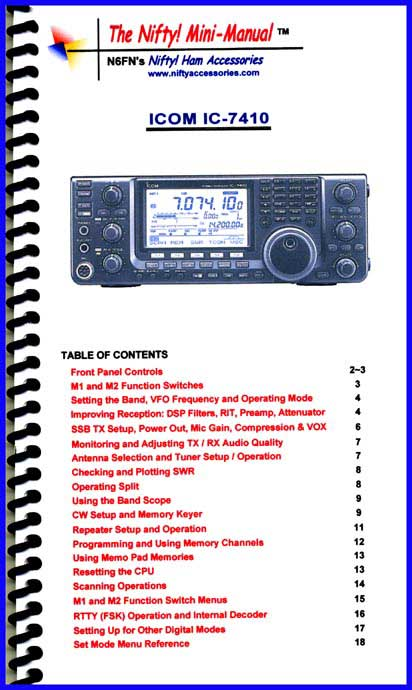Icom IC-7410 Mini-Manual