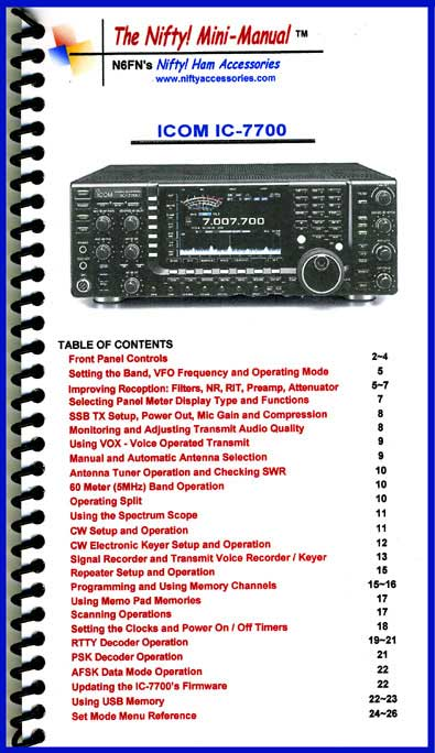 Icom IC-7700 Mini-Manual