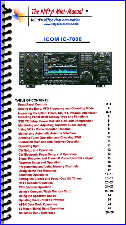 Icom IC-7800 Mini-Manual