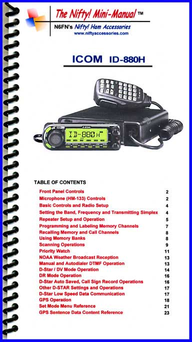 Icom ID-880H Mini-Manual