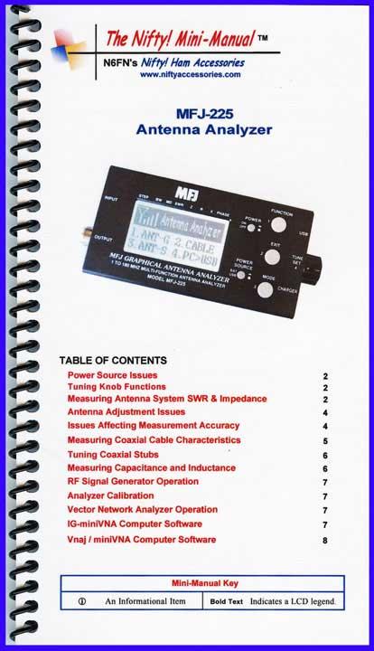 MFJ Antenna Analyzer Operation Guides