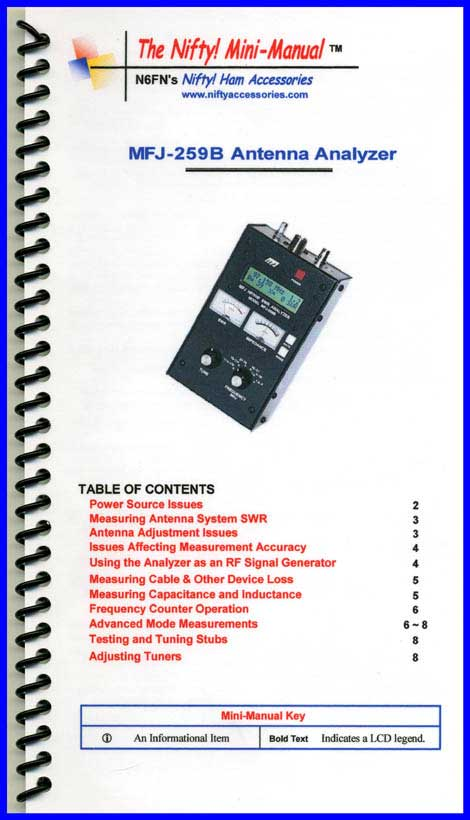 MFJ-259B Analyzer Mini-Manual