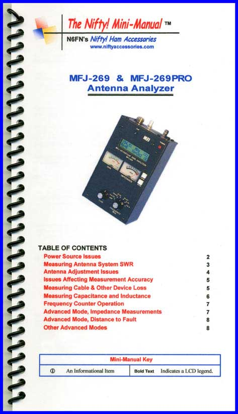 mfj 269 and mfj 269pro analyzer mini manual rh niftyaccessories com MFJ 13-1 2D AC Adapter MFJ- 259B