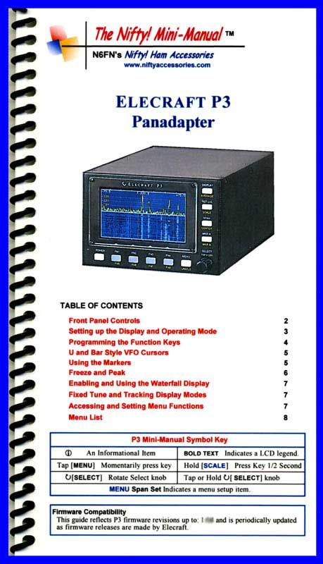 Elecraft P3 Panadapter Mini-Manual