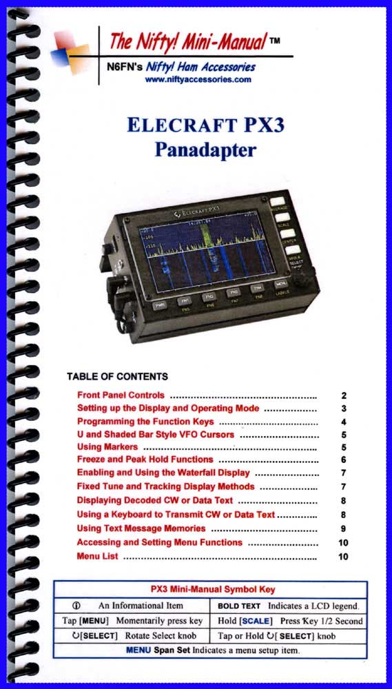 Elecraft PX3 Panadapter Mini-Manual