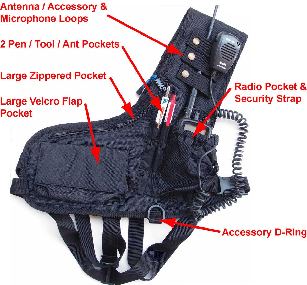 Ham Radio Chest Harness / Gear Organizer