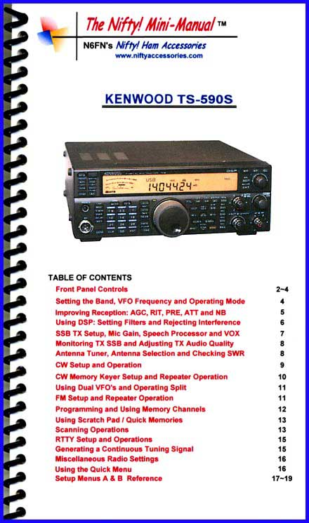 Kenwood TS-590S Mini-Manual
