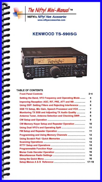 Kenwood TS-590SG Mini-Manual