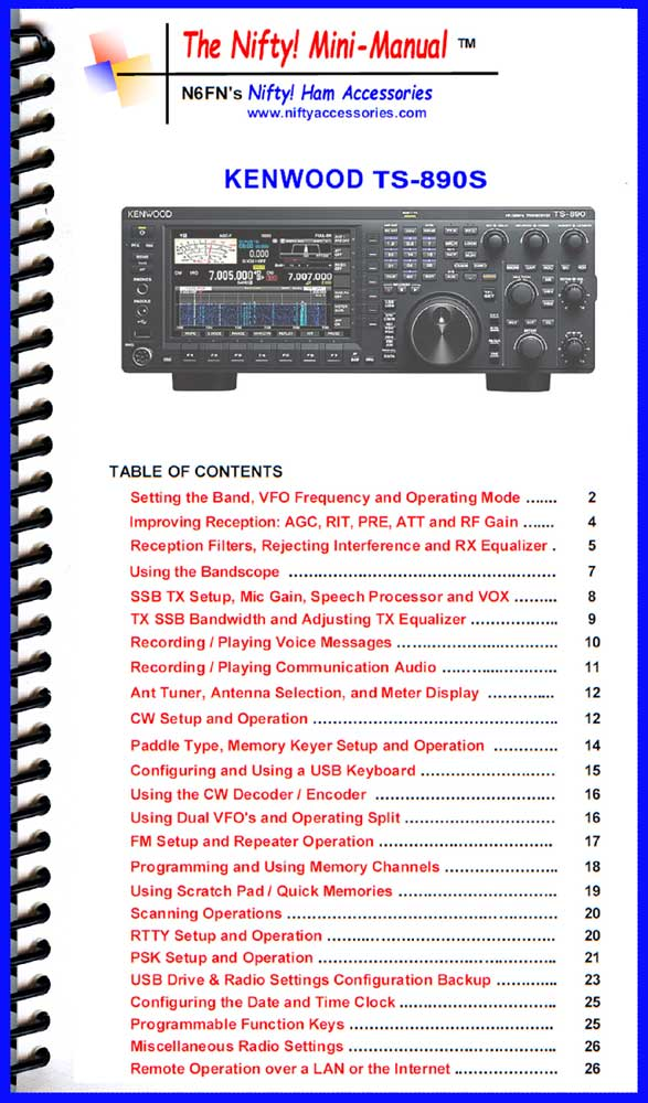 Kenwood TS-890S Mini-Manual